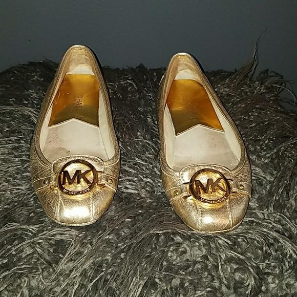 Michael Kors Gold Flat Shoes | Poshmark